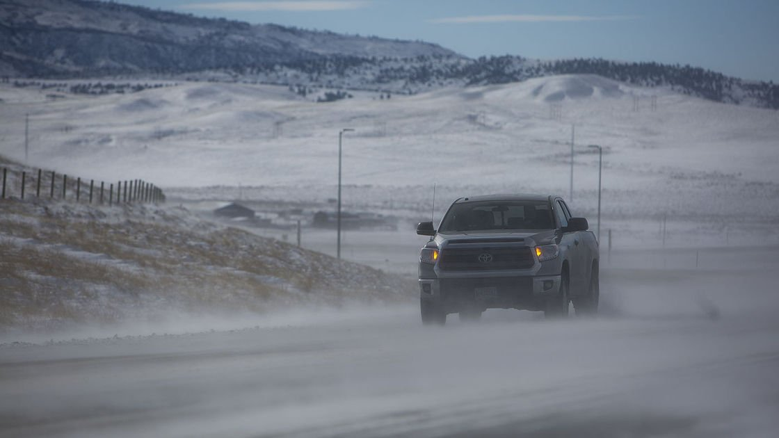Some Wyoming roads closed as winter storm continues
