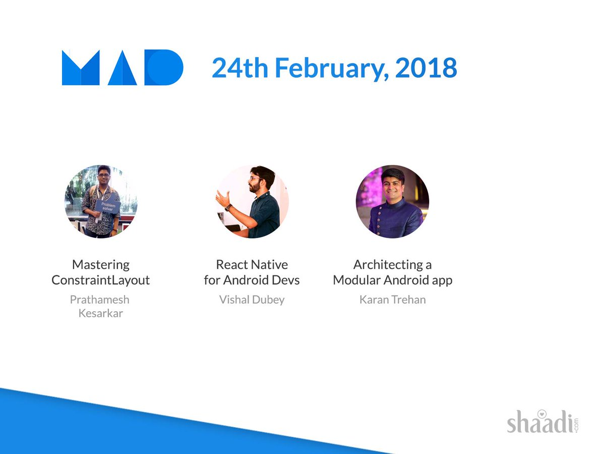 test Twitter Media - It's February! #MADMeetup returns with a twist to the venue and the date. Join us on 24th Feb at @ShaadiDotCom   Register: https://t.co/dV12DvHtFS  Talks by @vishal_AF @karntrehan @rookiepatty https://t.co/QXDtRw5tgb