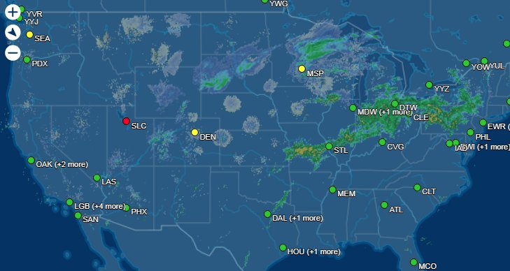 Rough day to fly out of @slcairport - be patient! They've got the plows out and they're de-icing your plane. @flightaware https://t.co/9eCL9peGar