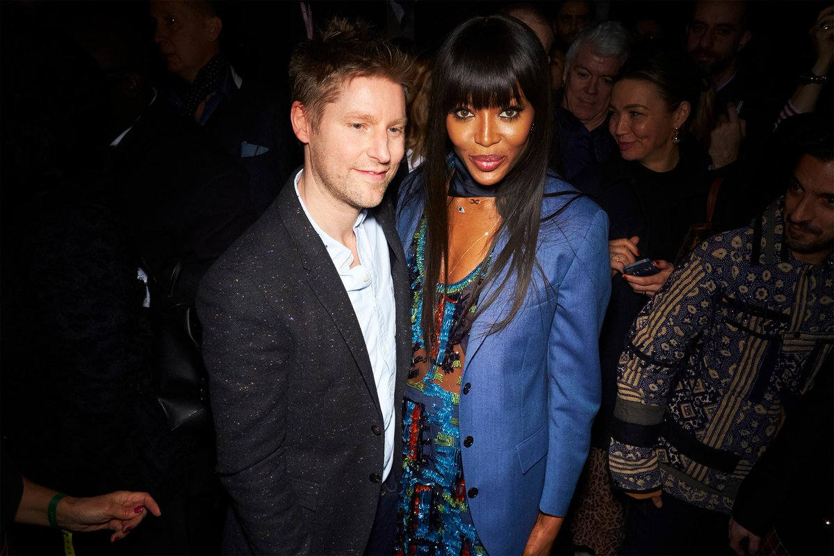 Christopher Bailey with @NaomiCampbell at the February 2018 show #BurberryShow #LFW https://t.co/ICQ1xgF02v