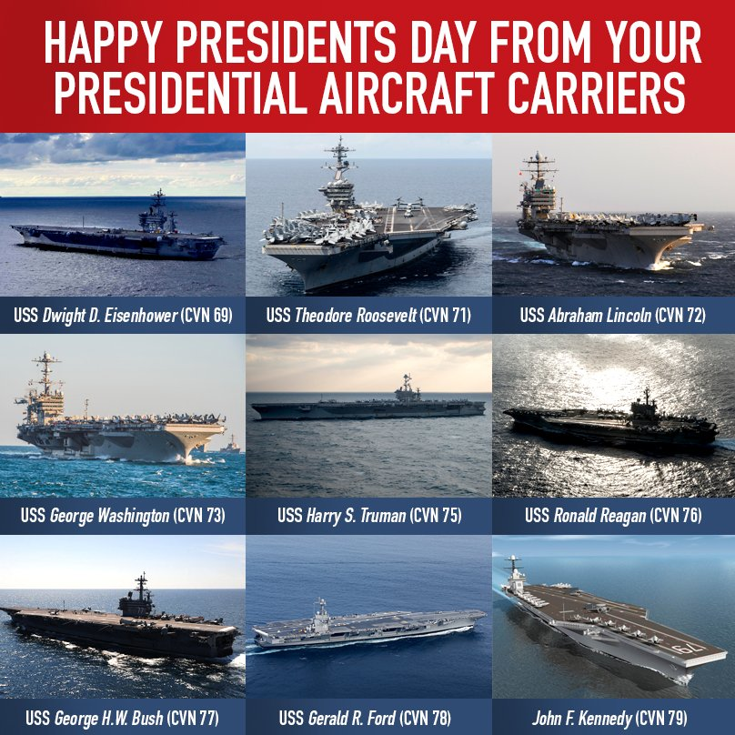 Happy #PresidentsDay2018! ����⚓️ @USNavy #aircraftcarrier https://t.co/N51lpANvoV