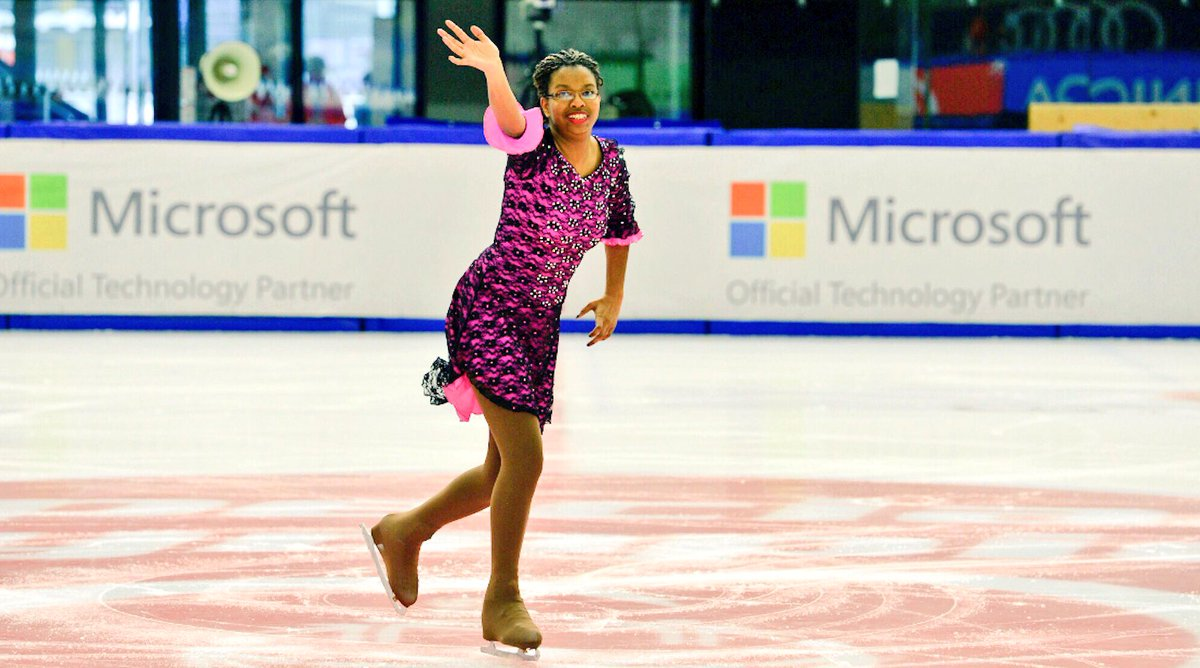 """""""When I step out onto the ice, everything melts away. It feels like I am flying."""" -Sharita Taylor, @SOOhio, on her sport of #figureskating    🎥⛸️https://t.co/Vv8kDbsmq6 https://t.co/MDZQLyGhC3"""