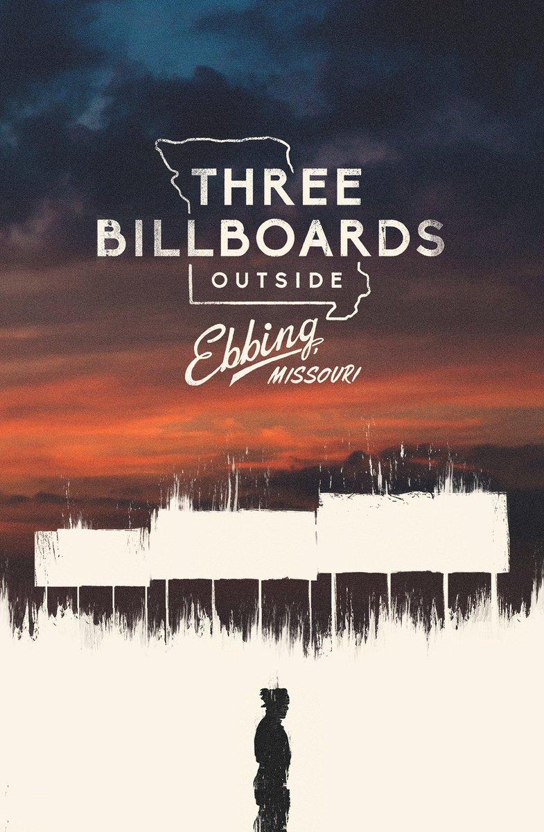 RT @SG_Posters: Alternative poster tribute to @3Billboards for my #Oscars2018 series. https://t.co/2jpRLwbk6h