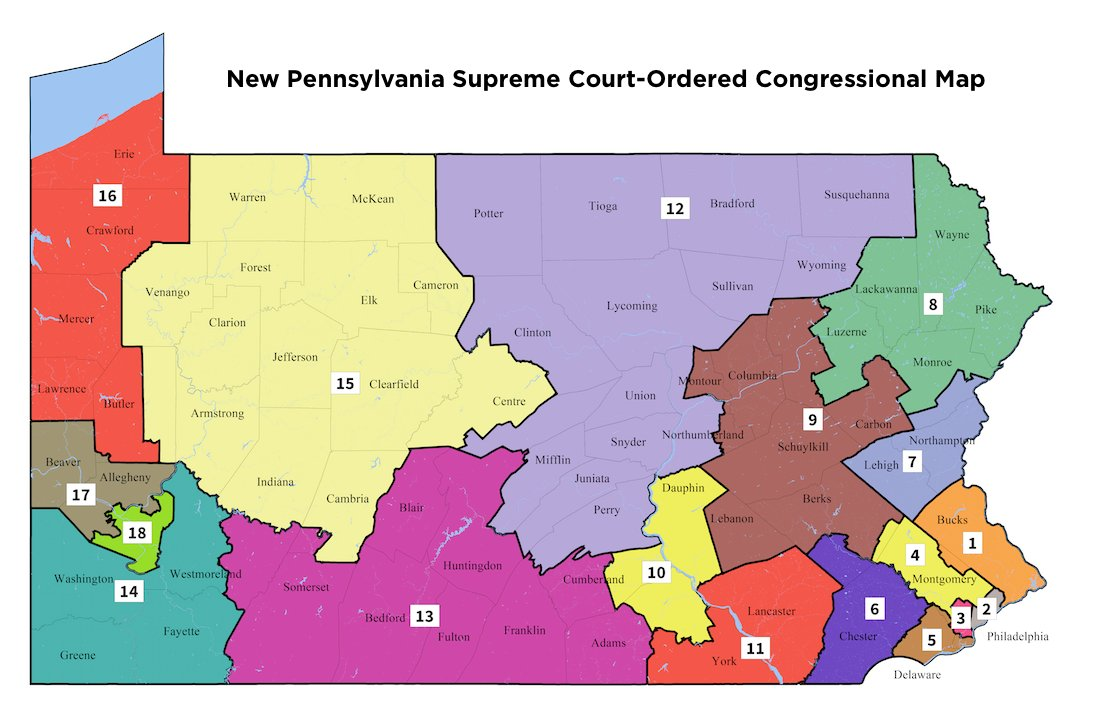 Pennsylvania Supreme Court issues new congressional map for 2018 elections https://t.co/wHPKg3yf1y https://t.co/6Zi9WK4skJ