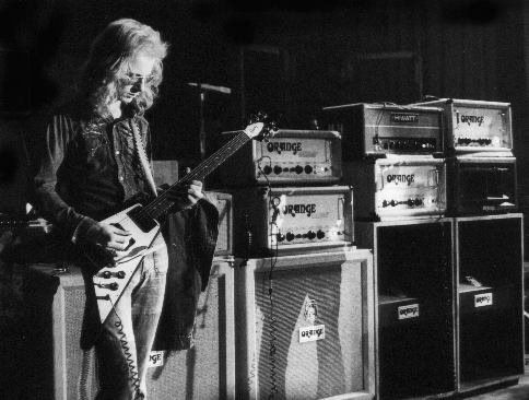 Happy Birthday Andy Powell of Wishbone Ash! (here with his \67 Flying V and backline, ca 1973)
