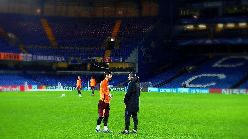 ⚽️ #ChelseaBarça �� Stamford Bridge �� Leo Messi https://t.co/mVhzUgrH4g