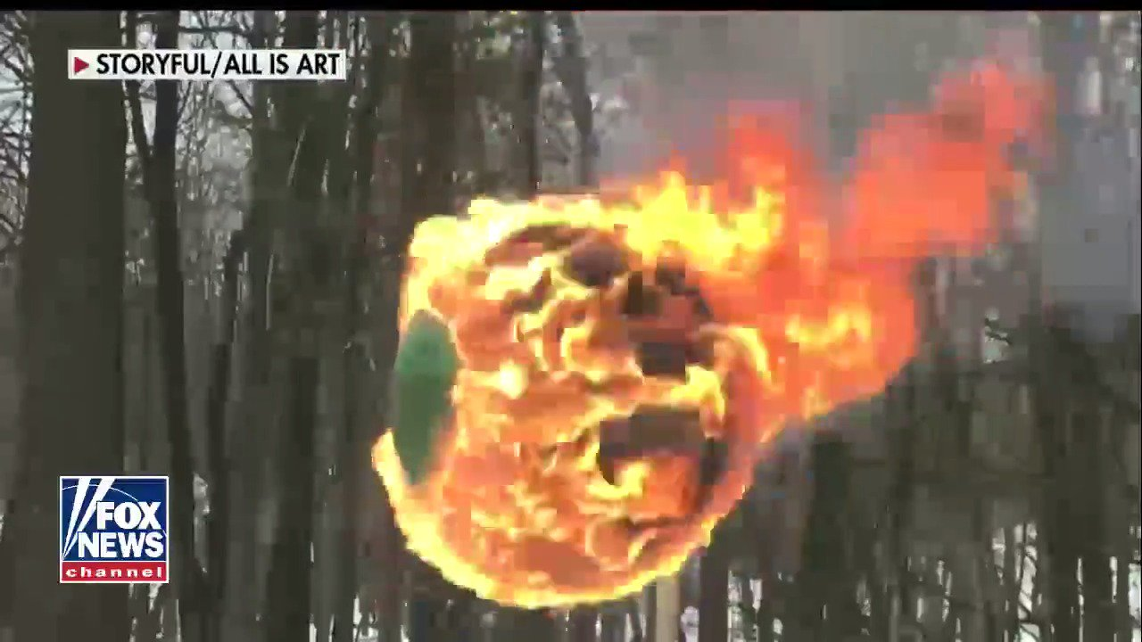 WATCH: Man sets a sphere of 42,000 matches on fire  #TheFive https://t.co/yjTocgP4Eh