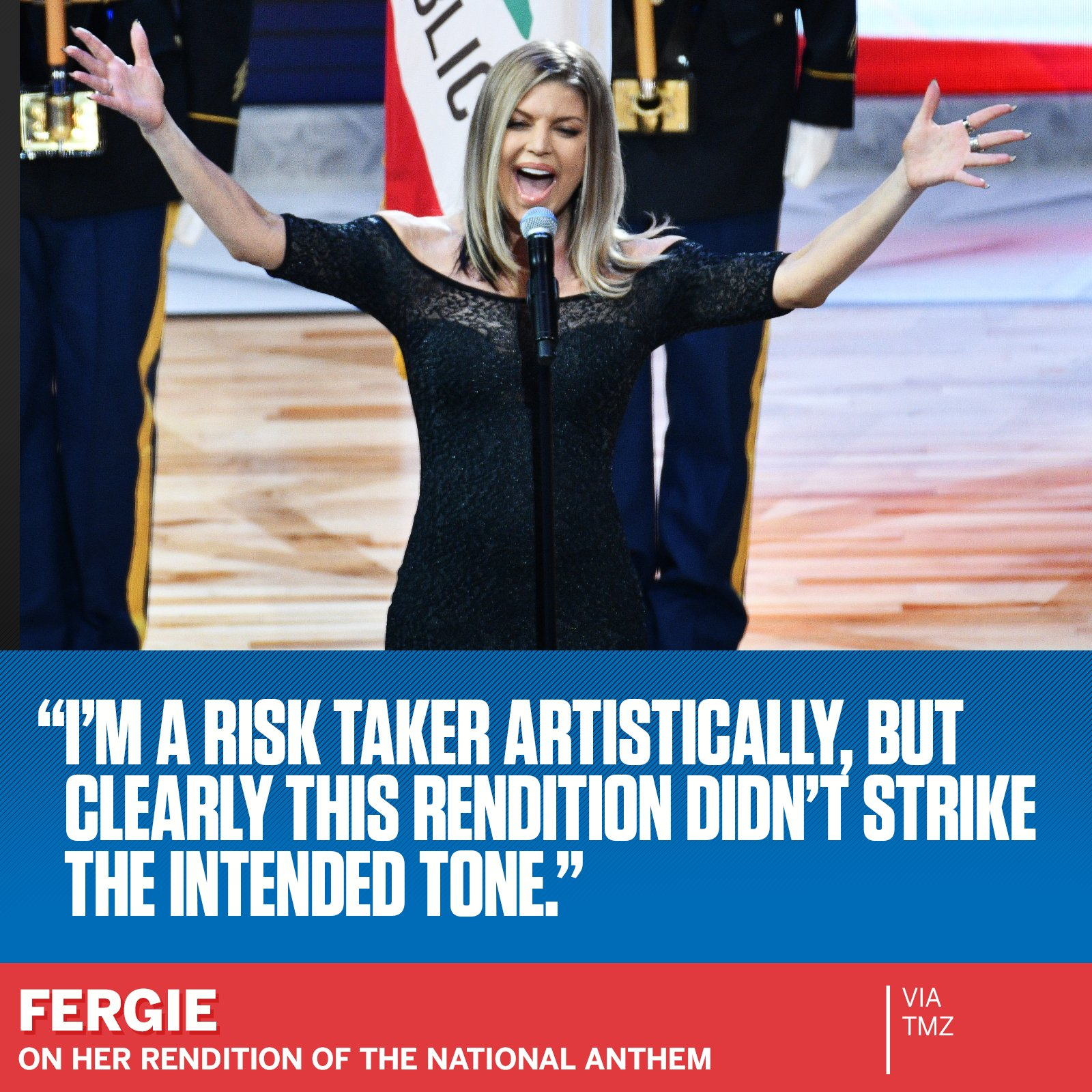Fergie responded to the critics of her national anthem performance at the NBA All-Star Game. https://t.co/Rp4CXcSGC2