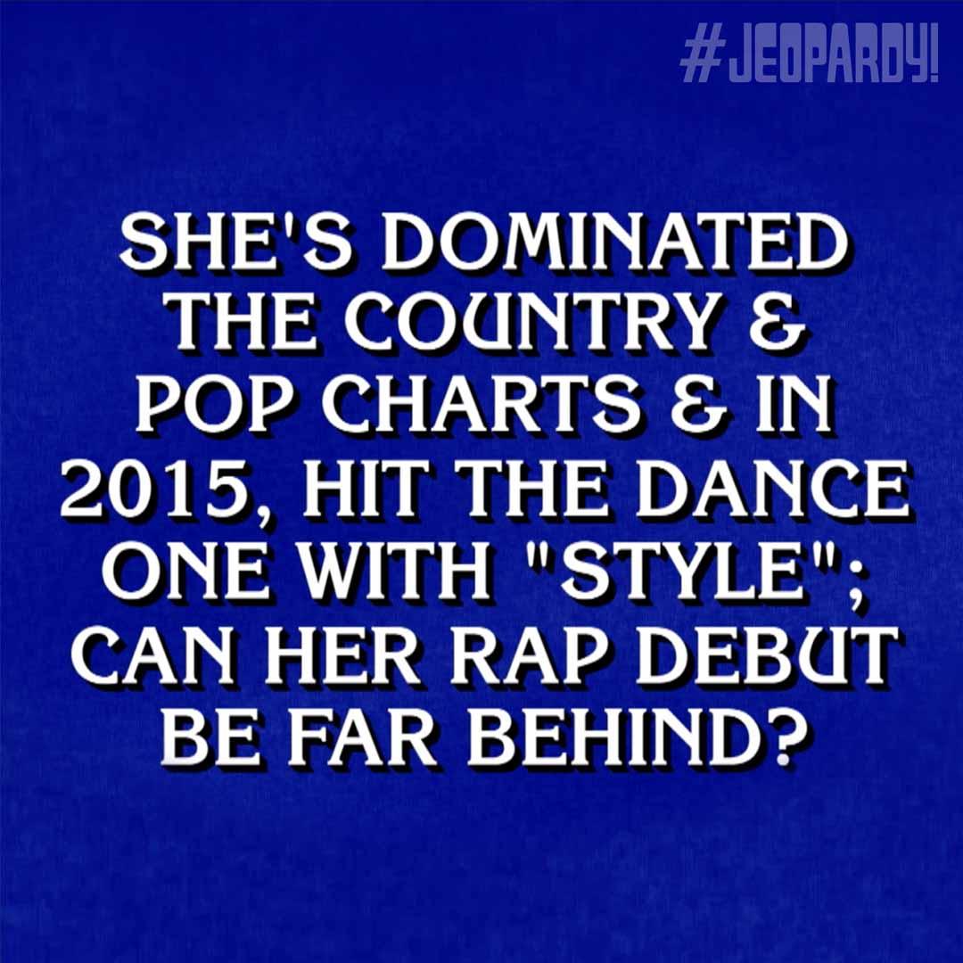 Jeopardy taylorswift13