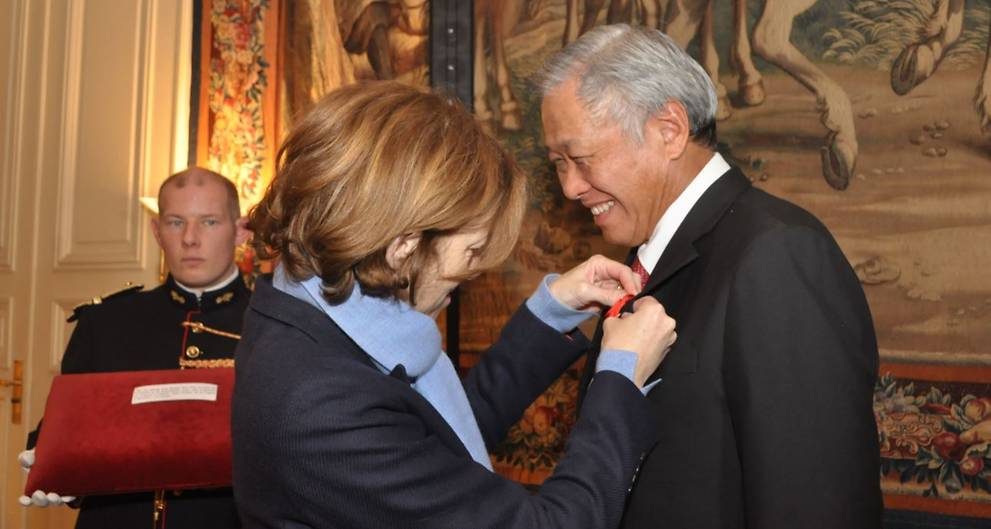 Defence Minister Ng Eng Hen conferred French Legion of Honour award