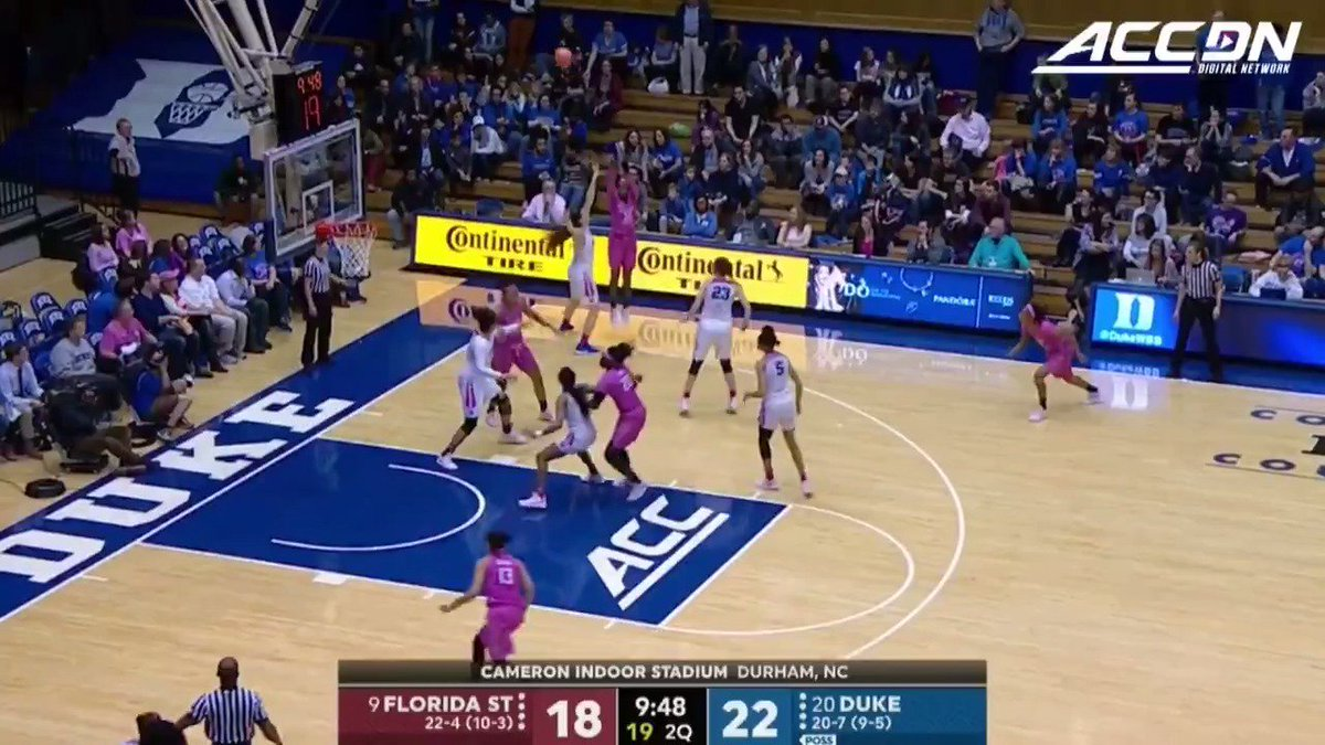 Lexie Brown and Rebecca Greenwell combined to score 52 points as No. 20 @DukeWBB beat No. 9 @fsuwbb 79-66. https://t.co/198HuhRbG9