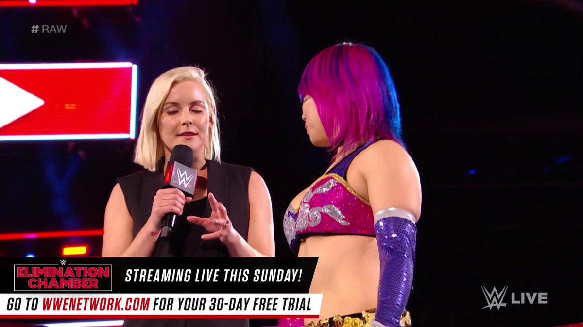 Maybe the real question is, is anybody ready for @NiaJaxWWE ?... #RAW @WWEAsuka https://t.co/m8b2z8iqww