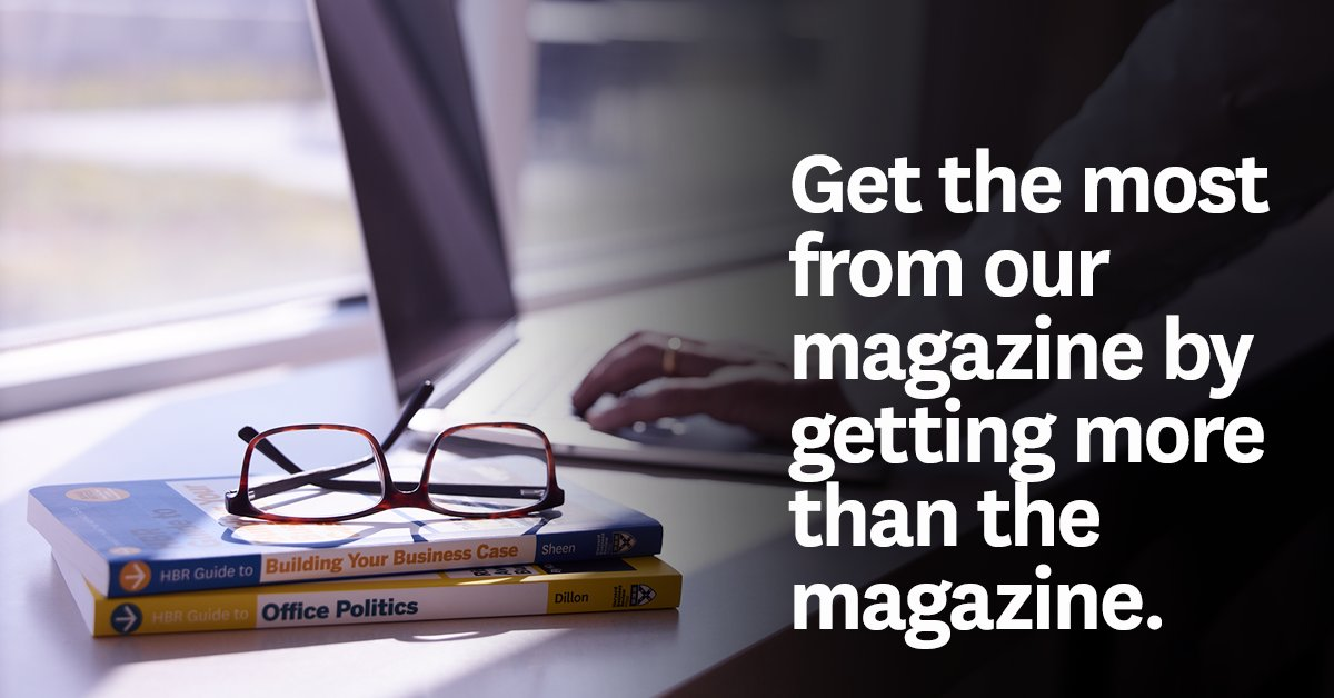 Learn about all of the digital resources that HBR subscribers have access to. https://t.co/2otwjFrL9d https://t.co/NTzUYjaxPC