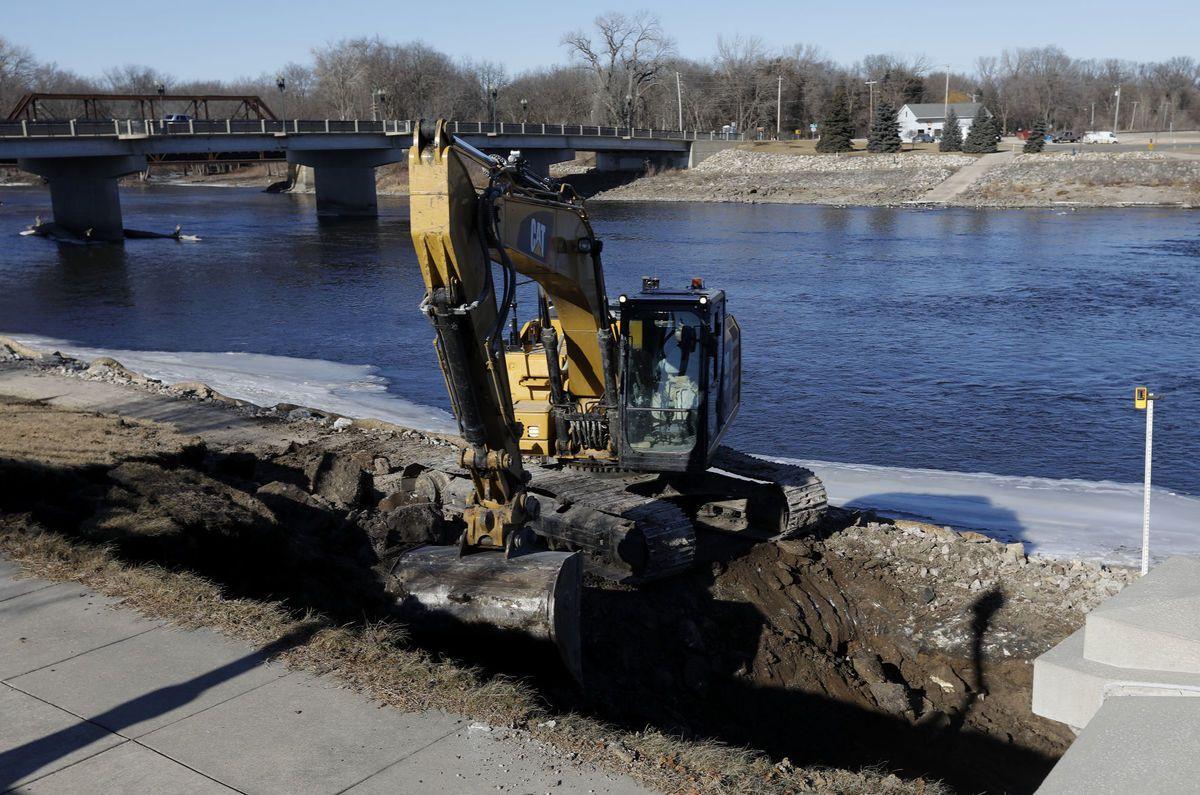 Downtown Cedar Falls flood control work begins