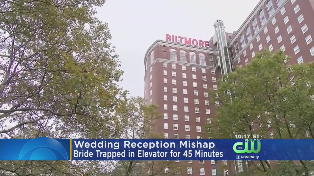Bride Trapped In Elevator For 45 Minutes, Misses CocktailHour