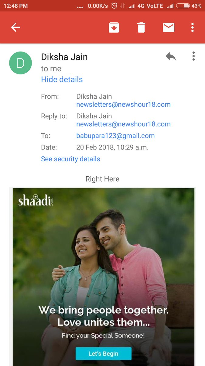 test Twitter Media - Dear @ShaadiDotCom, I am a father of a baby boy now. So you can understand it better that I am a married man. Do plz stop sending ur marriage proposals. As I am happy with my wife. 😊 Send instead better job opportunity. LOL. ☺ https://t.co/ho1qcT1q6F