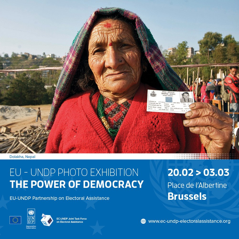 test Twitter Media - 🗳️ Photo exhibition inauguration today 📸 in Place Albertine, Brussels!  We have partnered with @UNDP on over 100 electoral assistance projects since 2006 to support democracy around the world ➡️ https://t.co/kbViFL7eEL #UNDPEUpartnership https://t.co/CHmi65fsYz