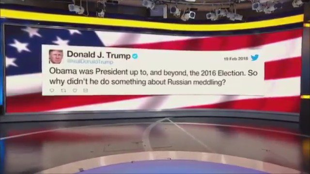 President Trump puts the pressure on Obama, asks why he didn't do anything to stop Russian meddling https://t.co/1gVkgDDM17