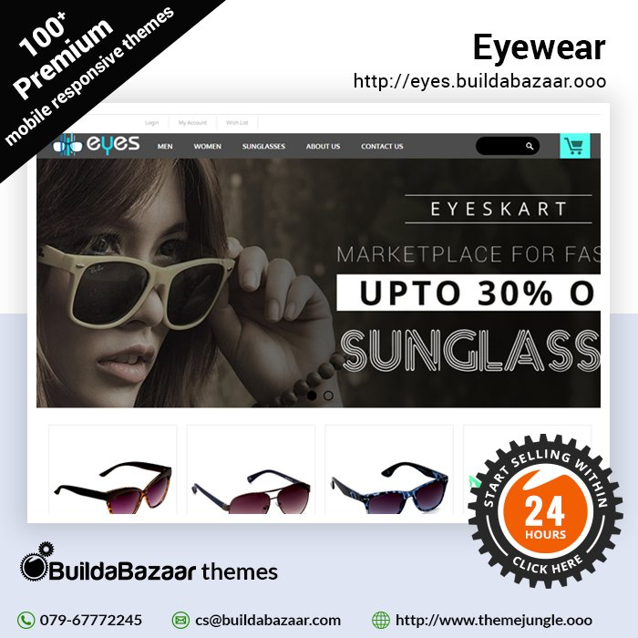 test Twitter Media - Showcase your stunning eyewear products online in an ecommerce store. Get a wonderful online store ready in just 24 hours with #BuildaBazaar.  #infibeam #themejungle  #buildabazaarthemes #ecomercethemes #websitethemes https://t.co/sHv7dgSwJ7 https://t.co/8Qy4qnum5f