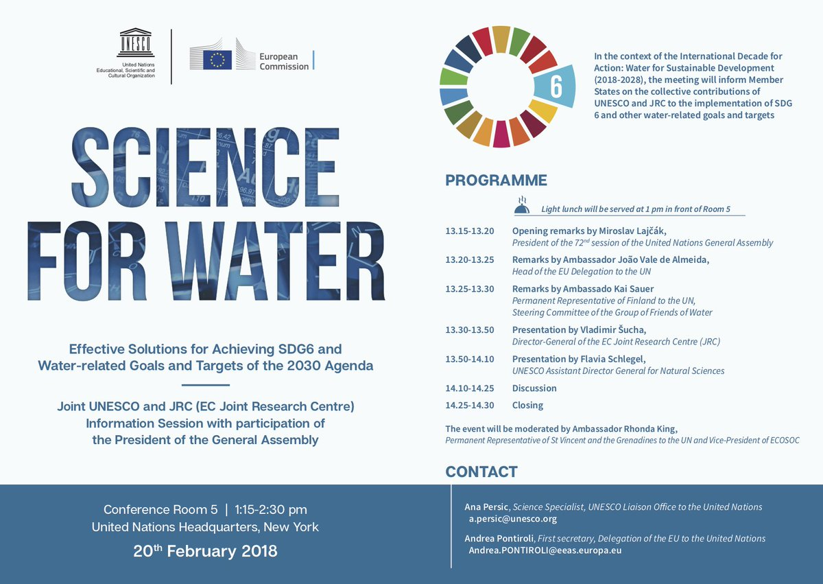 test Twitter Media - WATCH: Joint #UNESCO-#EU event on effective solutions for achieving #SDG6: #Science4Water with opening remarks by @UN_PGA,  @ValedeAlmeidaEU & @sauerka  https://t.co/HxWxs0qvjy https://t.co/b0OzDmHKaz