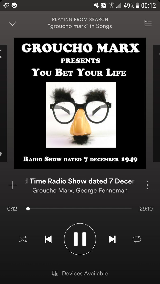 Thank you Spotify. Just discovered 18 #GrouchoMarx , #YouBetYourLife, Radio Shows. https://t.co/MPhuk4C2zW https://t.co/Ip33nafIDX