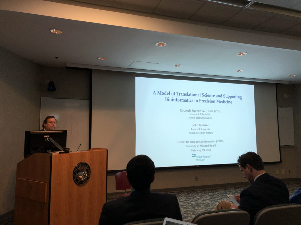 """test Twitter Media - Excited to be part of today's @Mizzou @mumedicine CBMI practicum: """"Precision Medicine, Mathematical Modelling, Simulations, and Predictions"""" #Informatics #PrecisionMedicine #BigData https://t.co/ieDy4Ye2GO"""