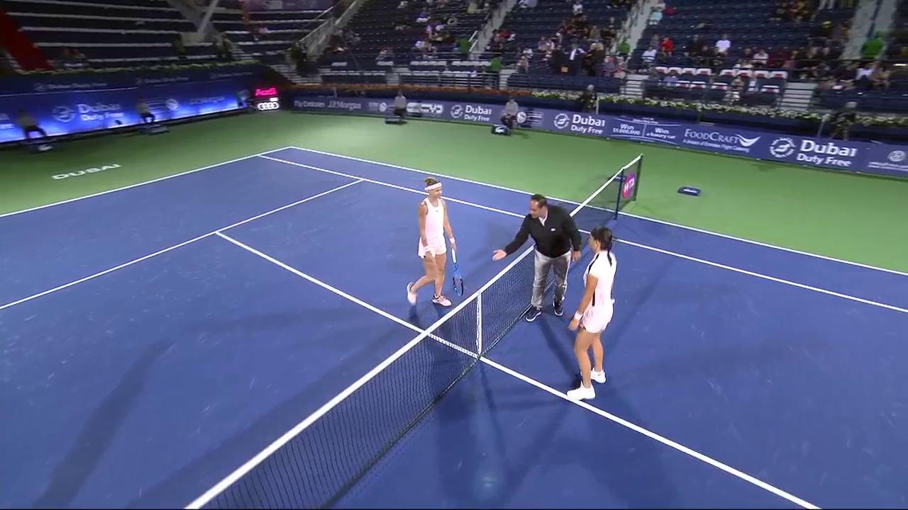 .@CaroGarcia and @LucieSafarova last up on day 2 of @DDFTennis! https://t.co/GfQxxTtwvs
