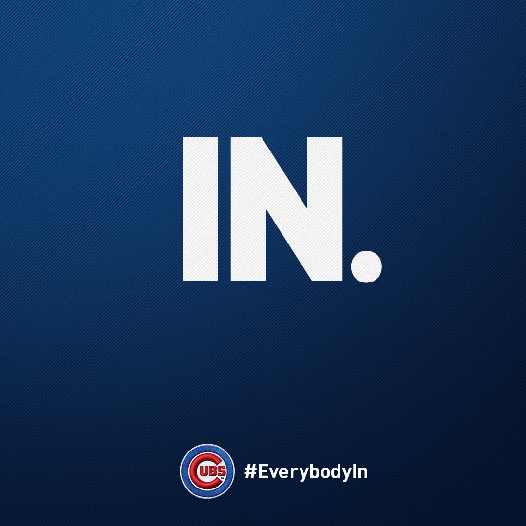 RT @Cubs: Who's in? #EverybodyIn https://t.co/7aRKrD7CwW