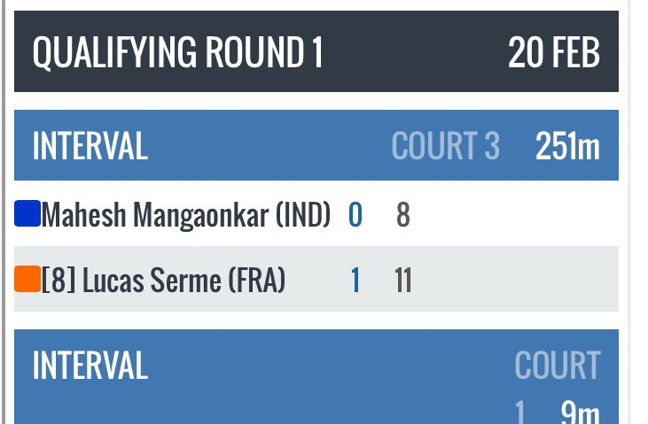 test Twitter Media - Quite the aggressive 1st game happening between @maheshmangao & @LucasSerme at @ChicagoSquash 😳😳😳😂😂#251minuteslater https://t.co/Q7ZNDXHsIN
