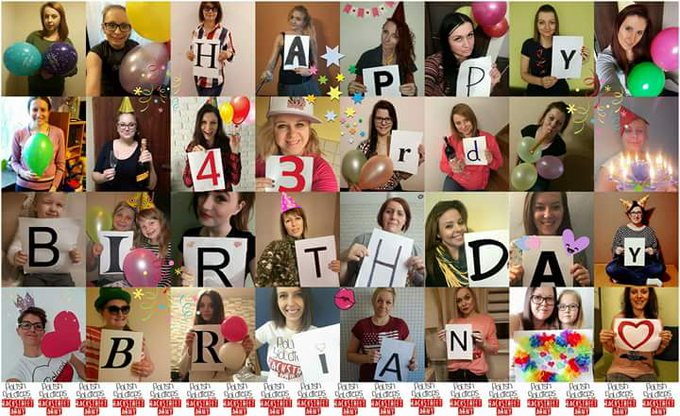 All the best  Happy birthday  Kiss from Poland