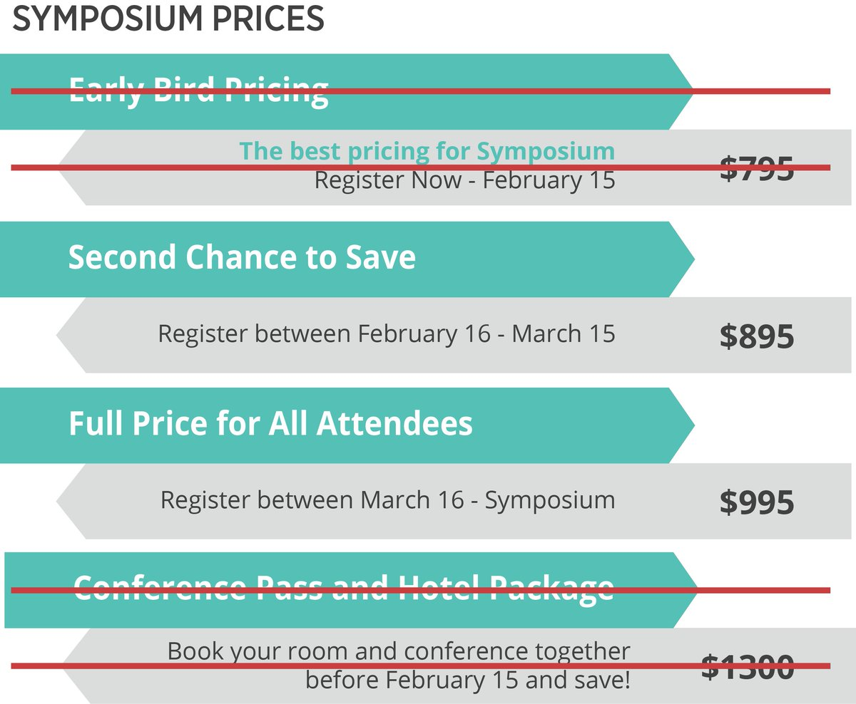 test Twitter Media - Okay, okay! You drive a hard bargain. Reserve your spot at Symposium 2018 today and we'll knock $100 off the full price so you only pay $895. But let's keep this deal between us (and the rest of the internet). Click here for more info https://t.co/3m6dvL8NT8 https://t.co/WGPziBPJKR