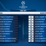 Eden Hazard leads the line for Chelsea, whilst Lui...