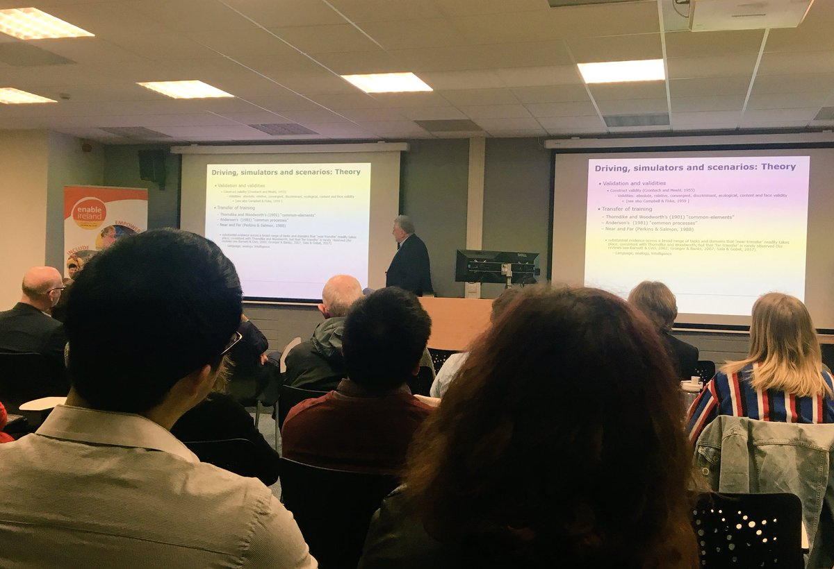 test Twitter Media - Huge thanks to Professor John Groeger @PsychologyNTU for delivering the inaugural Peter Dempsey Lecture on the topic of 'Driving with Impaired Cognition & How I got to Apply Psychology' https://t.co/PfOKz9v0kC