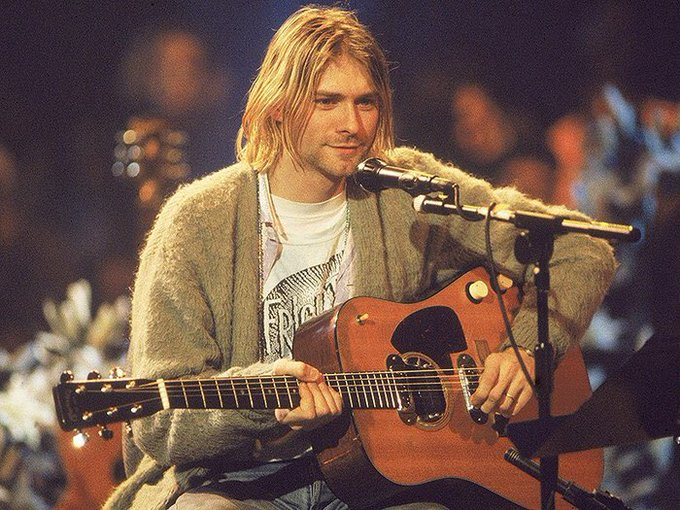 Happy birthday to the man himself, Kurt Cobain. Lead singer of Nirvana
