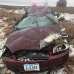 2 hurt in crash near Hawkeye