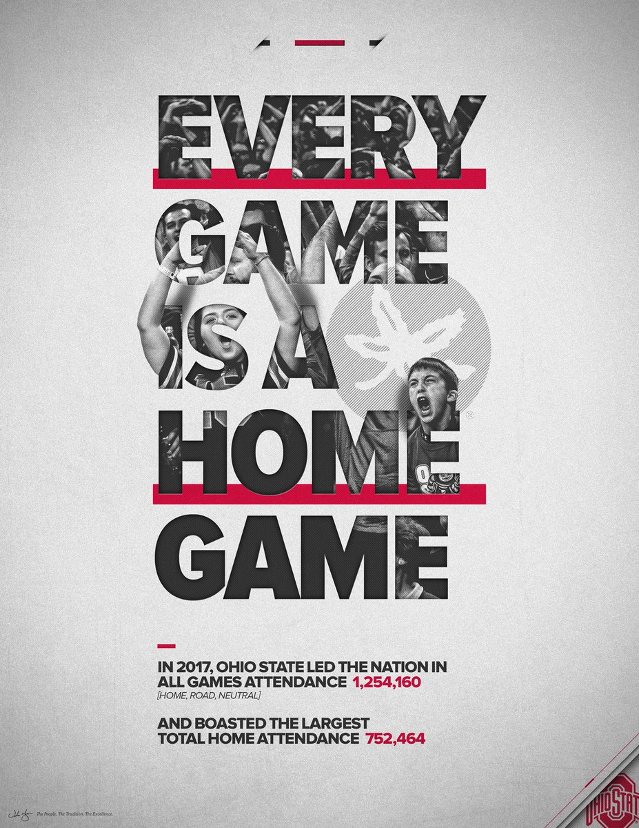 RT @OhioStateFB: Every game is a home game. ⭕️🙌  #GoBucks https://t.co/netJcjETO9