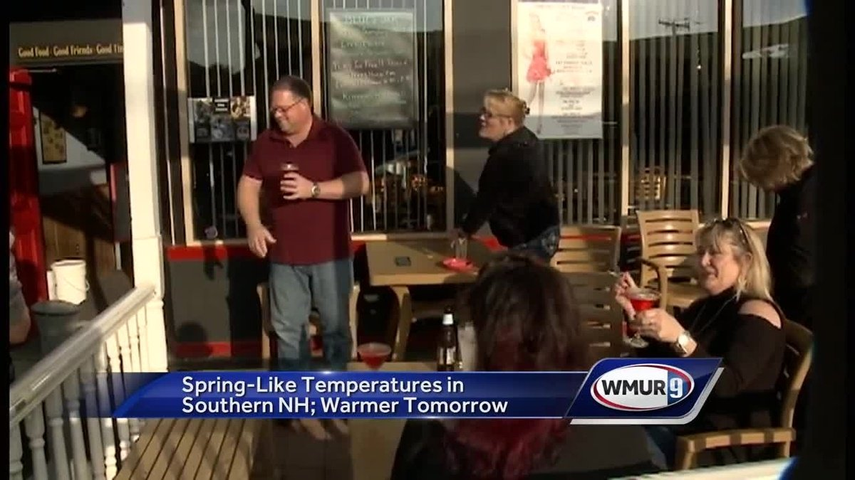 Springlike temperatures felt Tuesday around southern New Hampshire