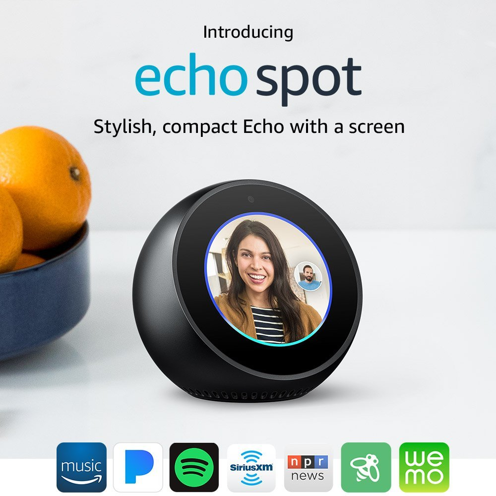 RT @msqrd2: Echo Spot Stylish, compact with a screen via @amazon https://t.co/OLYPgUOc3Q https://t.co/W89OCfdryC