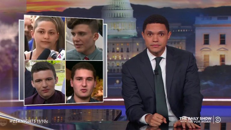 Late-night hosts applaud Florida students demanding action on gun control