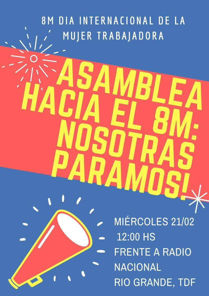 #mañana 21/2 en #RíoGrande #8M #NosotrasParamos https://t.co/jtkqFVp7i4