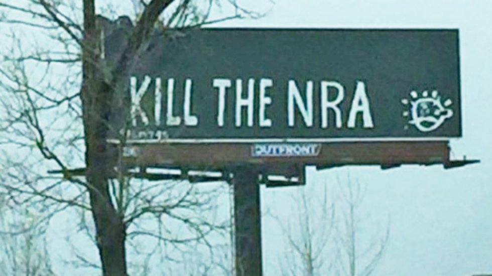 NRA posts photo of 'Kill the NRA' billboard, warns gun owners 'they're coming after us' https://t.co/ZsRHdZtAcz https://t.co/ZQcyfovg0D