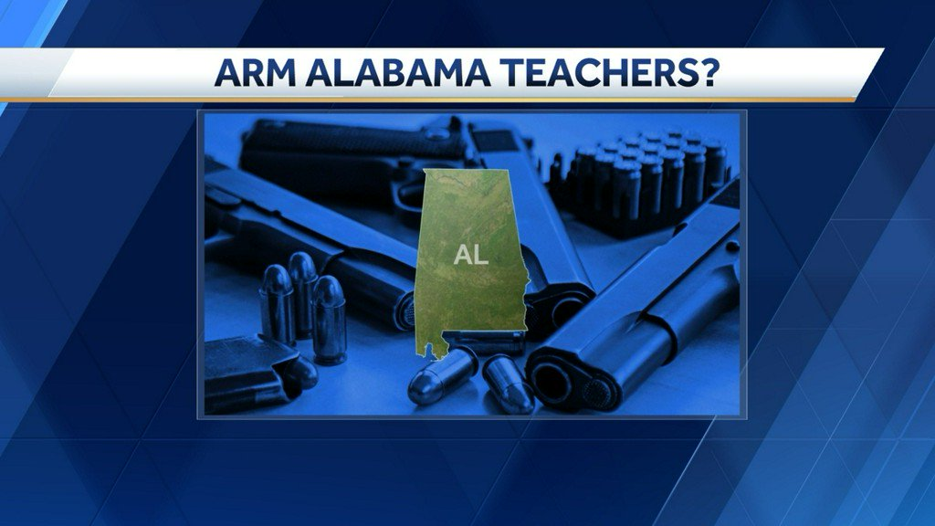 Alabama lawmaker teachers to be allowed to carry guns in school after Florida shooting