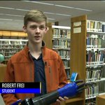 High school student learns to use 3-D printer to make an arm for hisfather