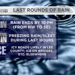 As heavy rain leaves, freezing rain creates icy roads