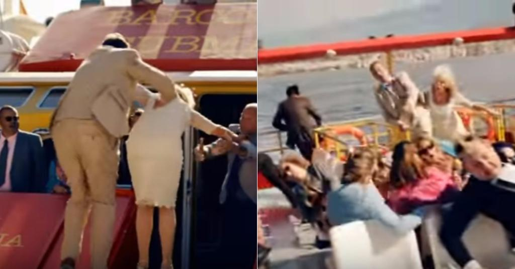 Benidorm's wedding special goes very wrong as Joyce Temple Savage gets poo-ed on by a seagull