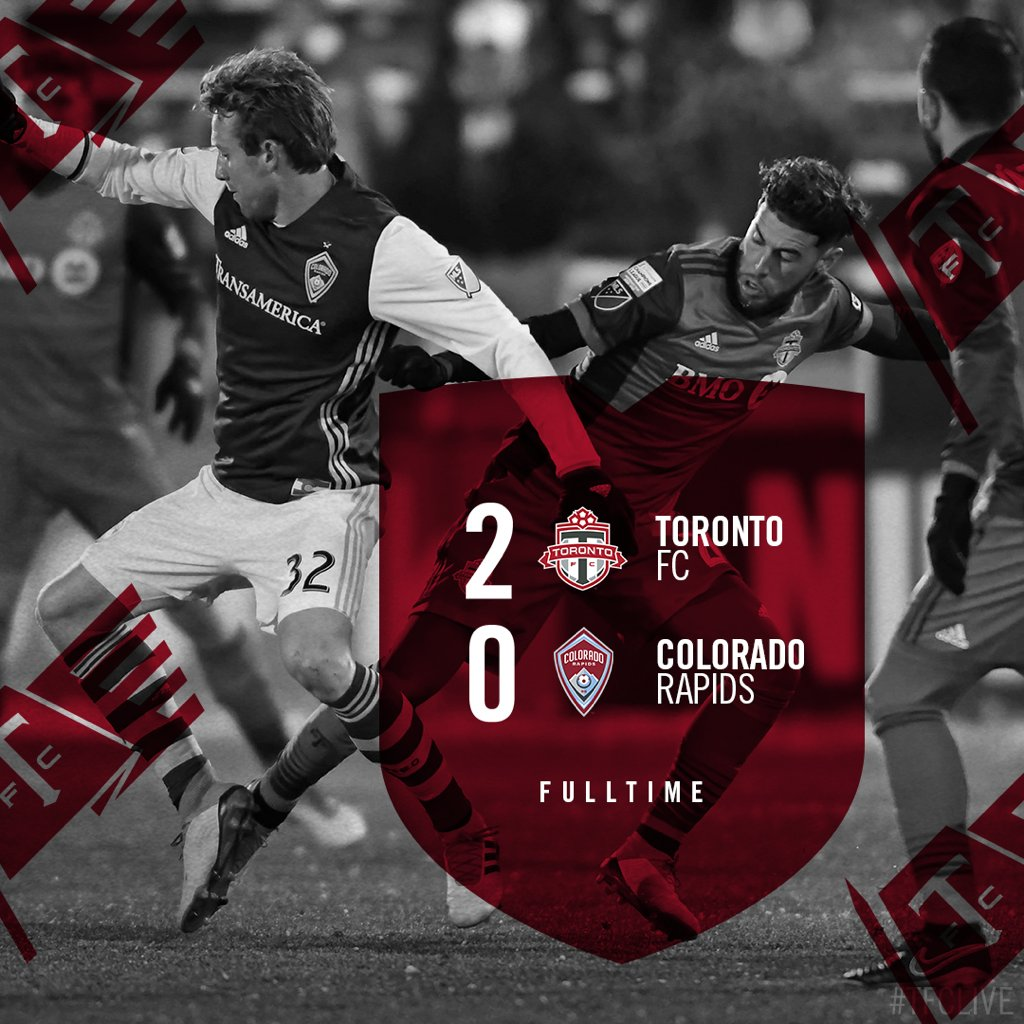 FT: Two away goals, clean sheet, halfway home.  #TFCLive | #COLvTOR https://t.co/UQ7IeLud5M