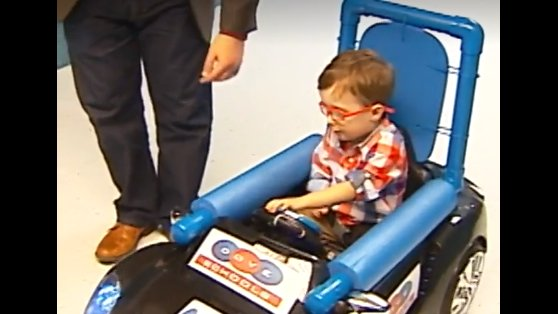 Students create modified car for boy born with rare disorder