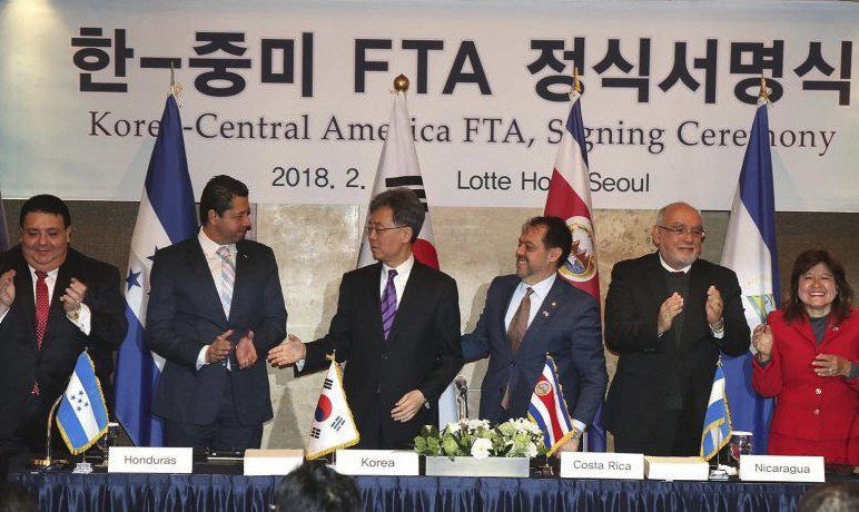 South Korea signs free trade deal with Central America as first in Asia