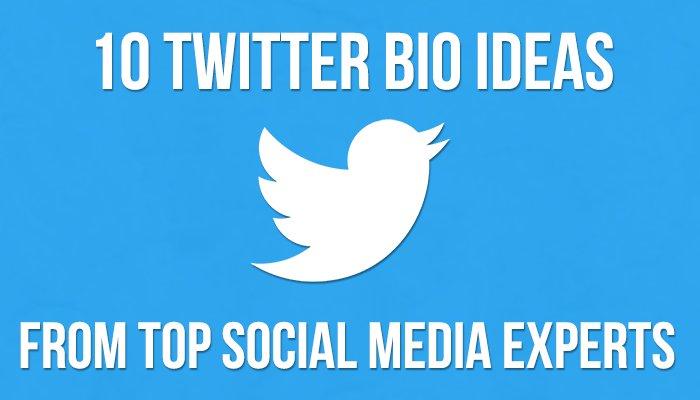 10 Twitter Bio Ideas From Top Social Media Experts https://t.co/hQRdel59rf #growthhacking #socialmediatips https://t.co/36S9m02Yw9