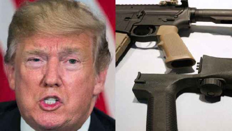 Trump pushes for ban on gun 'bump stocks'